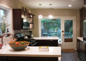 The finished kitchen.